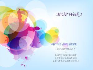 MUP Week 1
