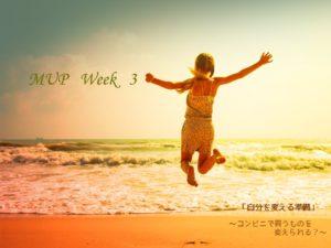 自己改革準備 ~ MUP Week3 ~